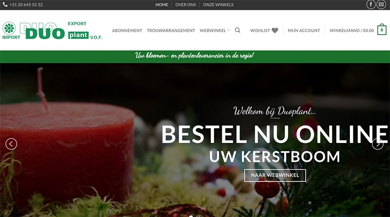 Duoplant webwinkel - Onzid webdesign