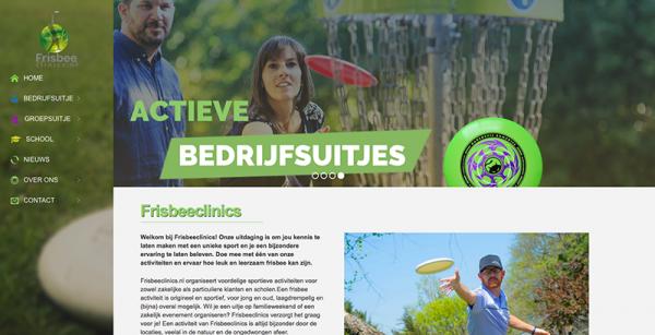 Frisbeeclincs.nl - Onzid webdesign