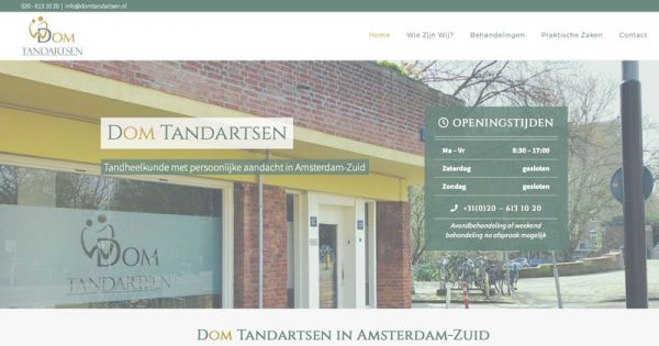website Dom Tandartsen - Onzid Webdesign