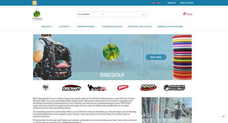 Frisbeewinkel.nl - webwinkel door Onzid