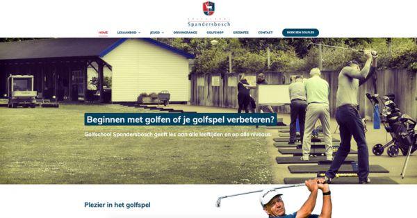 Webdesign voor Golfschool Spandersbosch